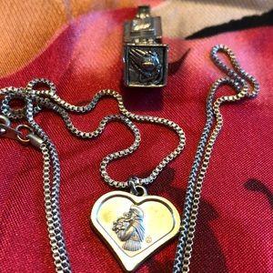 Jewelry - Religious silver necklace & pendants